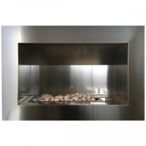 Single Sided Stainless Steel Flue Less Gas Fireplace